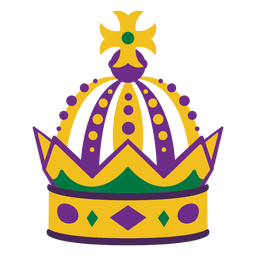 Mardigras crown flat