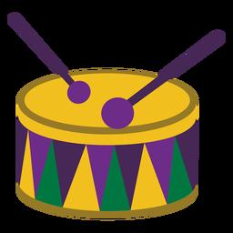 Mardigras tambor plano