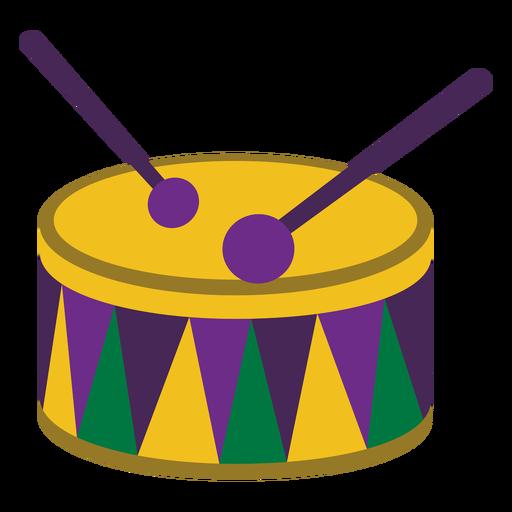 Mardigras tambor plano Transparent PNG