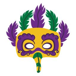 Mardigras eagle mask feathers flat