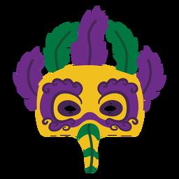 Máscara de águila de Mardigras con plumas planas
