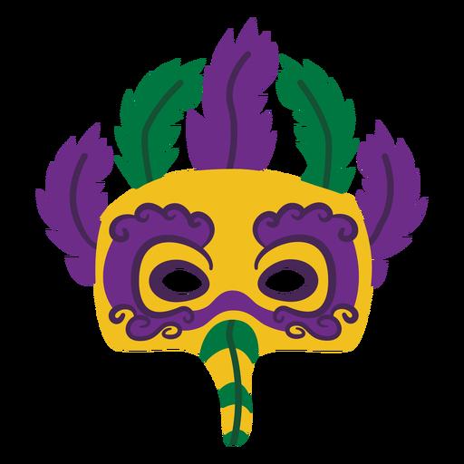 Mardigras eagle mask feathers flat