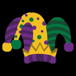 Sombrero joker Mardigras plano