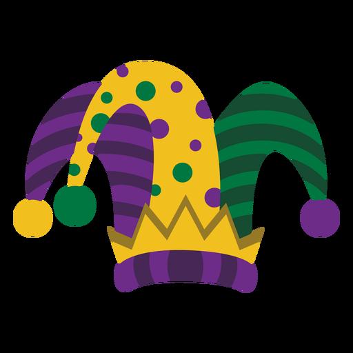 Mardigras joker hat flat