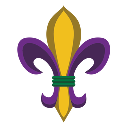 Mardigras logo badge flat