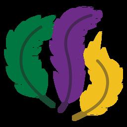 Logo de Mardigras plumas planas