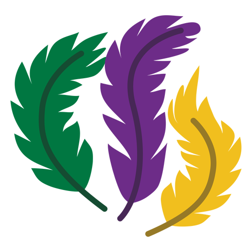 Mardigras logo feathers flat