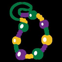 Mardigras necklace flat