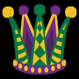 Sombrero de fiesta Mardigras plano