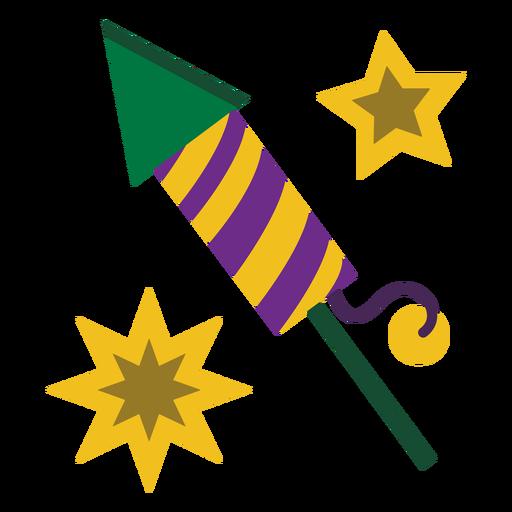 Plano de fuegos artificiales de cohete Mardigras