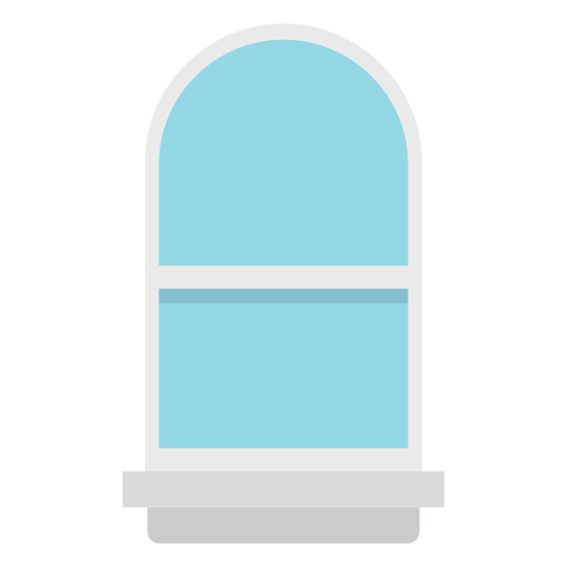 Window arched blue flat