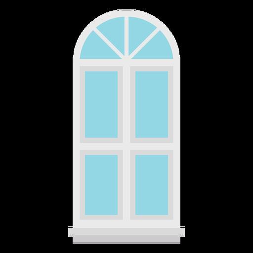 Janela em arco de vidro duplo plano