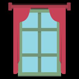 Cortina de janela plana