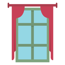 Window curtain flat