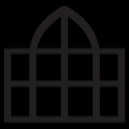 Traço de cúpula de janela