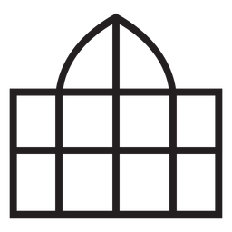 Trazo de cúpula de ventana