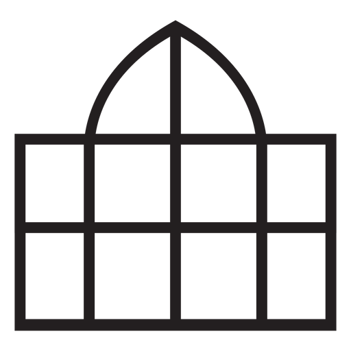 Window dome stroke Transparent PNG