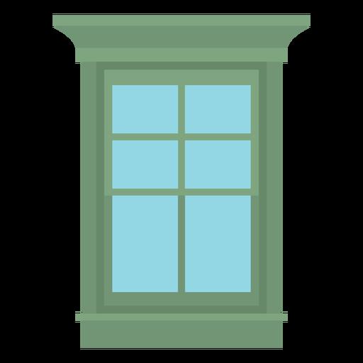 Window double hung flat