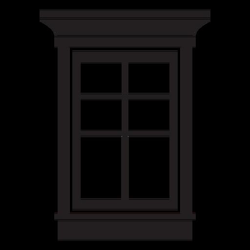 Trazo de ventana doble colgado