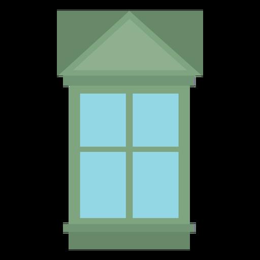 Window gable four pane flat