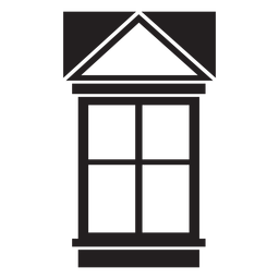 Window gable four pane stroke