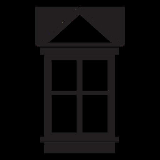 Window gable four pane stroke