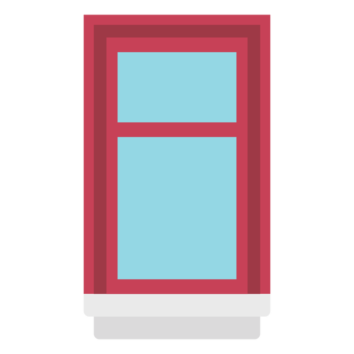 Window single hung flat