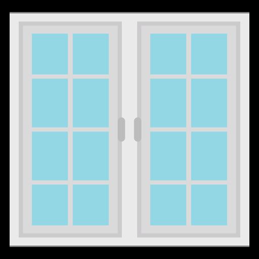 Window sixteen panes flat