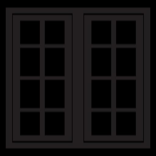 Window sixteen panes stroke