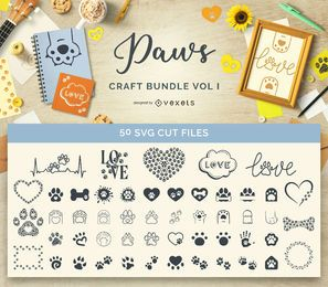 Animal Paws Craft Bundle Band I.