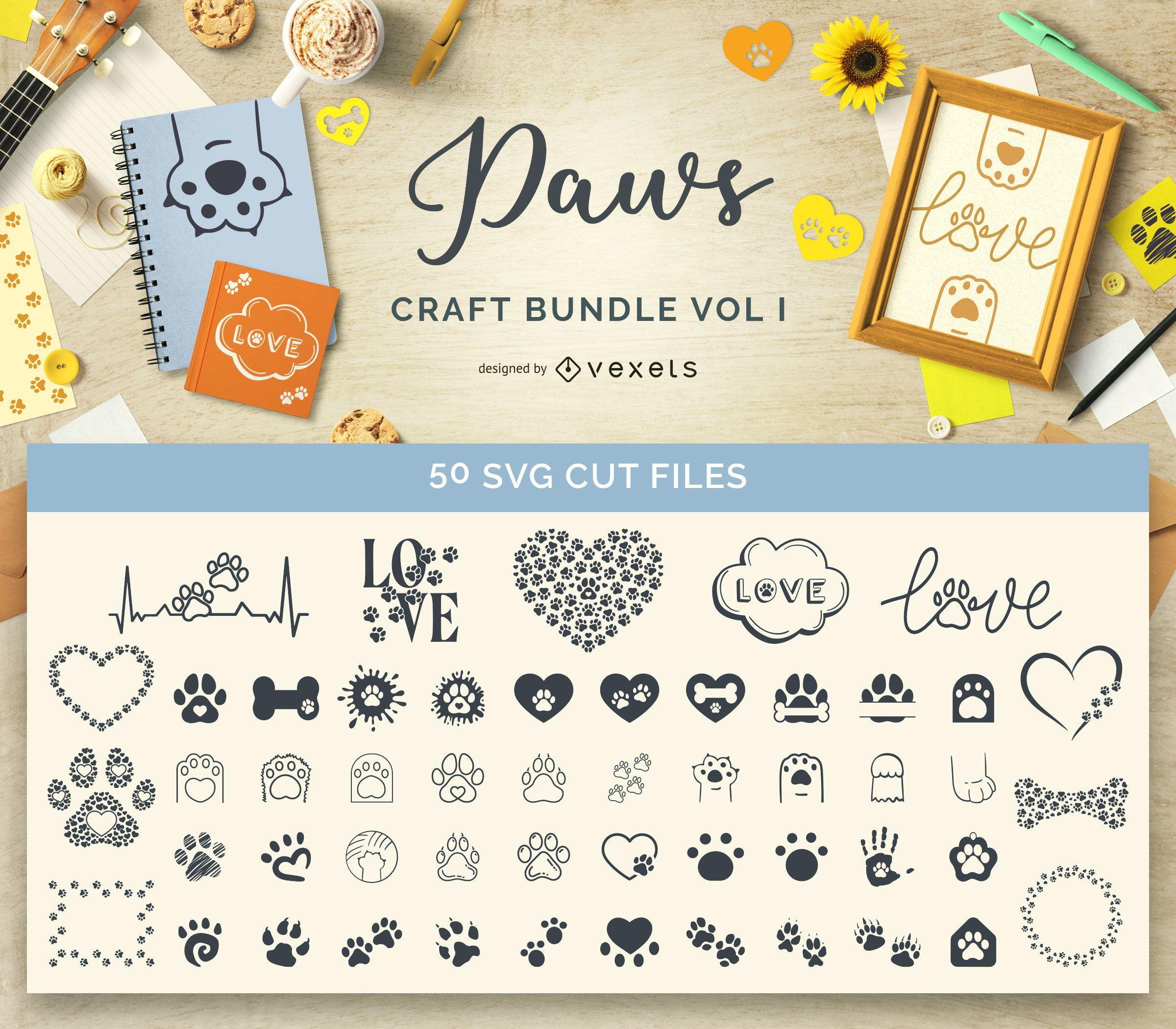 Animal Paws Craft Bundle Vol I