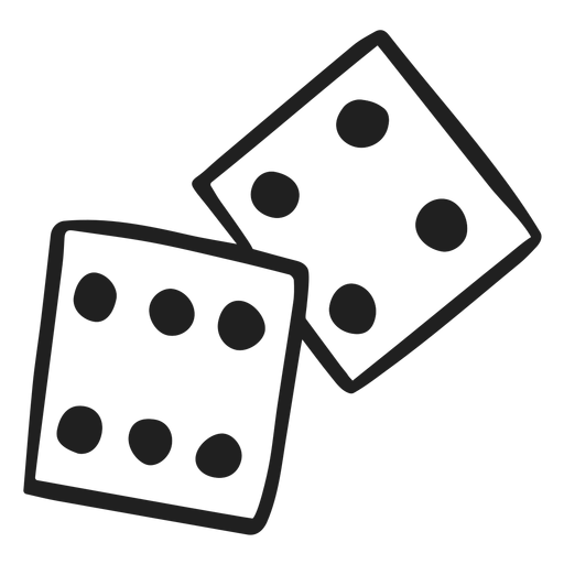 2 dices doodle Transparent PNG