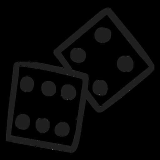 2 dices doodle