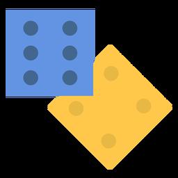 2 dados planos