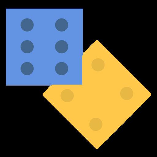 2 dices flat