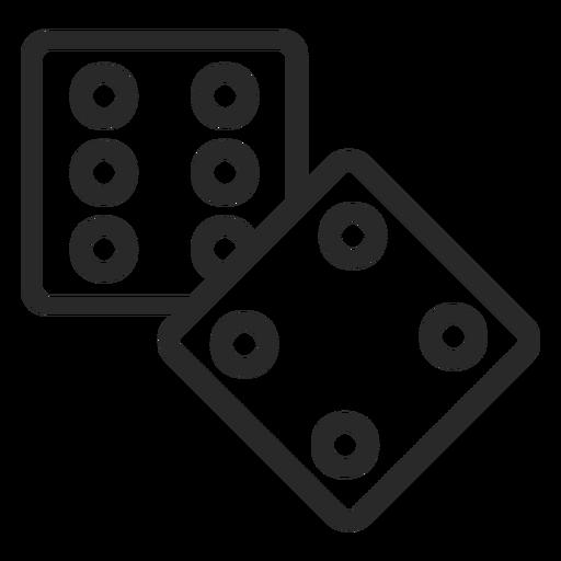 2 dices stroke Transparent PNG