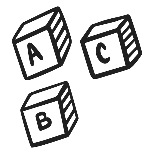 Doodle de cubos abc