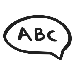 Abc in speech bubble