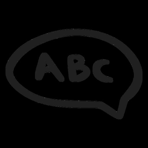 Abc in speech bubble