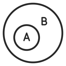A and b circles stroke