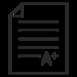 A grading paper stroke