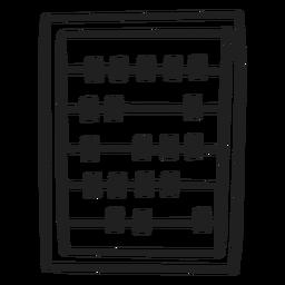 Doodle de calculadora de ábaco