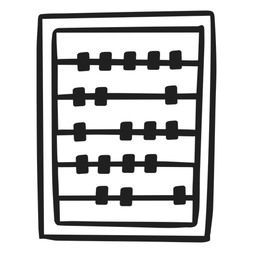 Abacus calculator doodle Transparent PNG