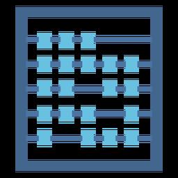 Calculadora ábaco plana