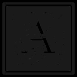 Art noveau a letter