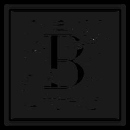 Art noveau b letter