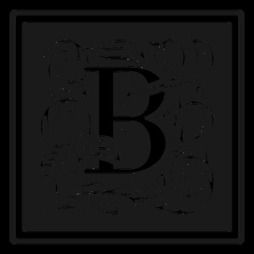 Letra de art noveau b
