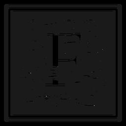 Art noveau f letter