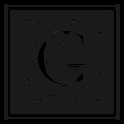 Art noveau g letter