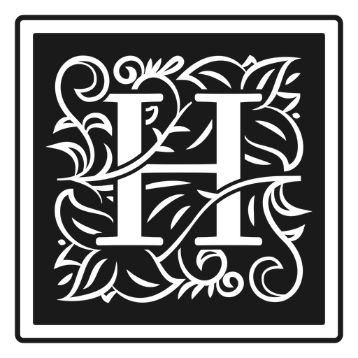 Letra de art noveau h Transparent PNG